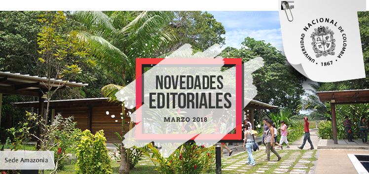 Boletín de novedades editoriales, marzo 2018