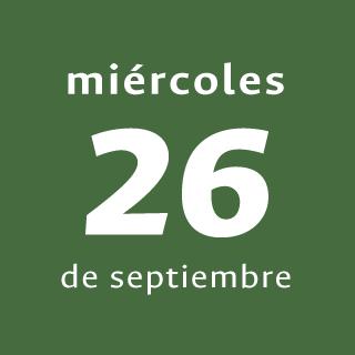 Día 2 - Miércoles 26 de septiembre de 2018