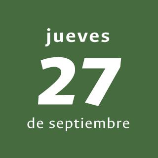 Día 3 - Jueves 27 de septiembre de 2018
